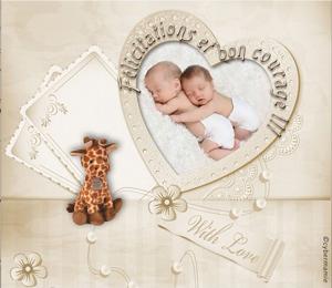 20-Félicitations jumeaux mixtes