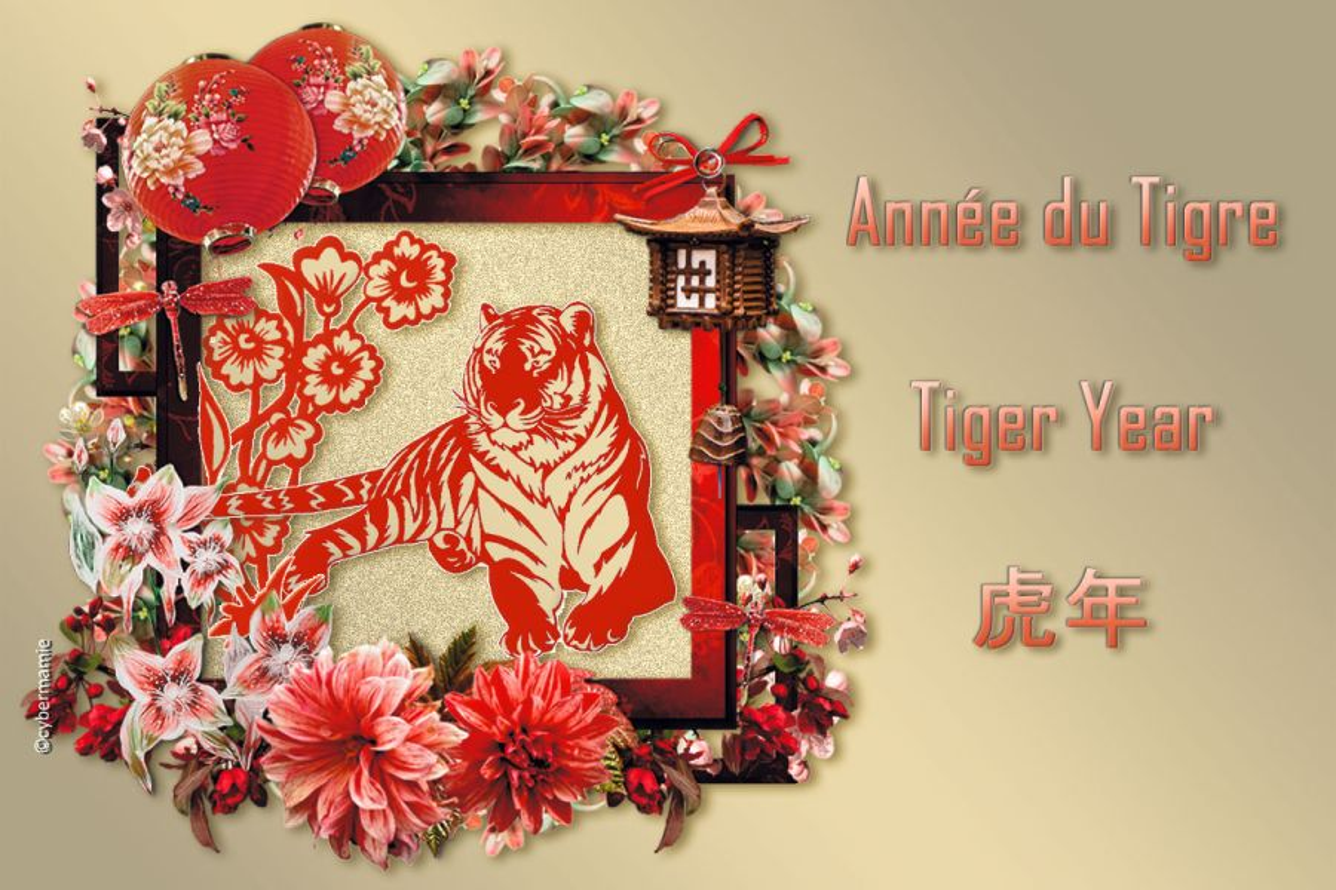 Cartes nouvel an Chinois