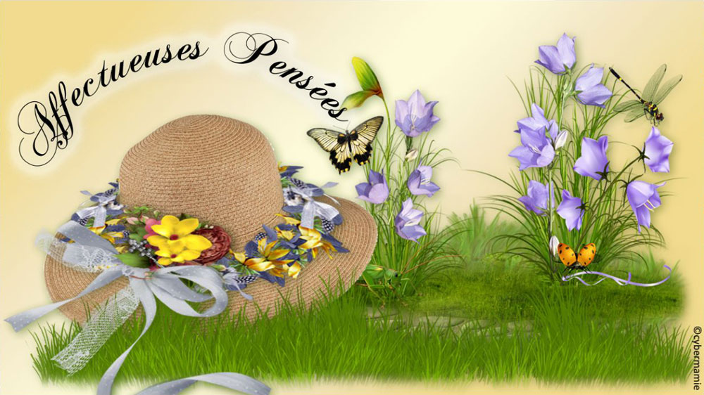 14 - Chapeau fleuri