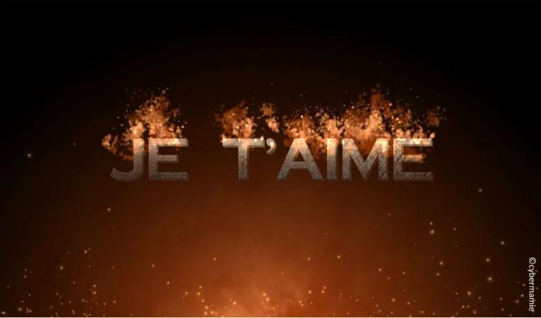 15 - Texte en feu