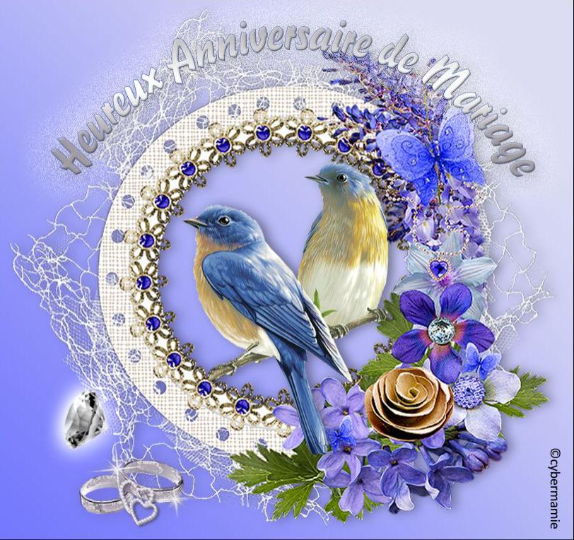 60 - Fleuri bleu