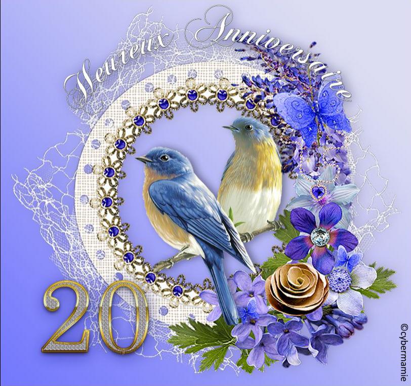 20 - Fleuri bleu
