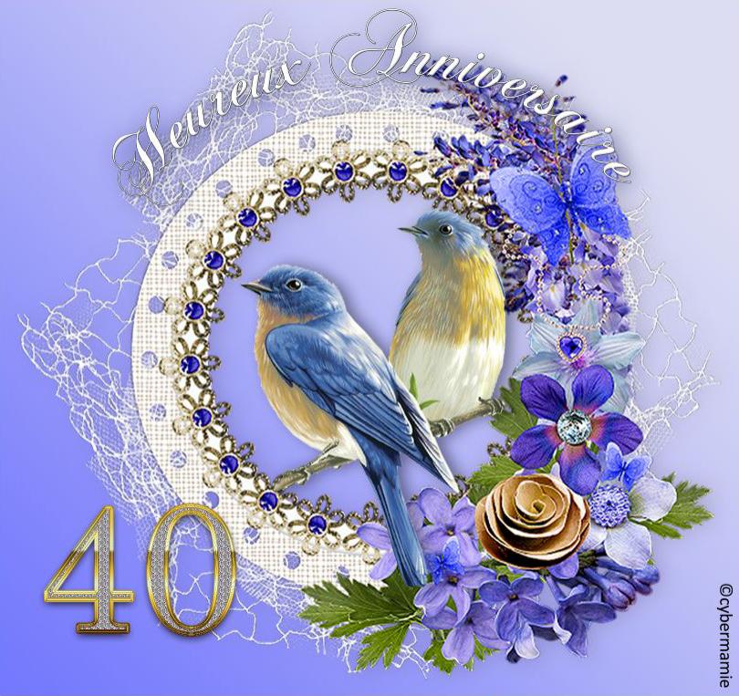 40 - Fleuri bleu