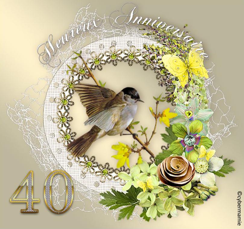 40 - Fleuri or