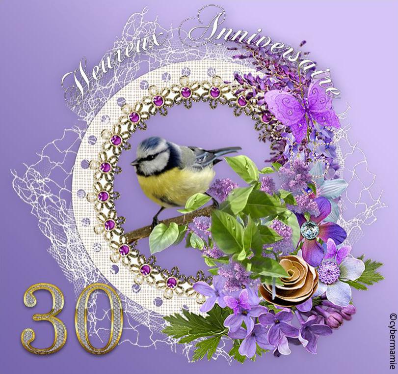 30 - Fleuri parme