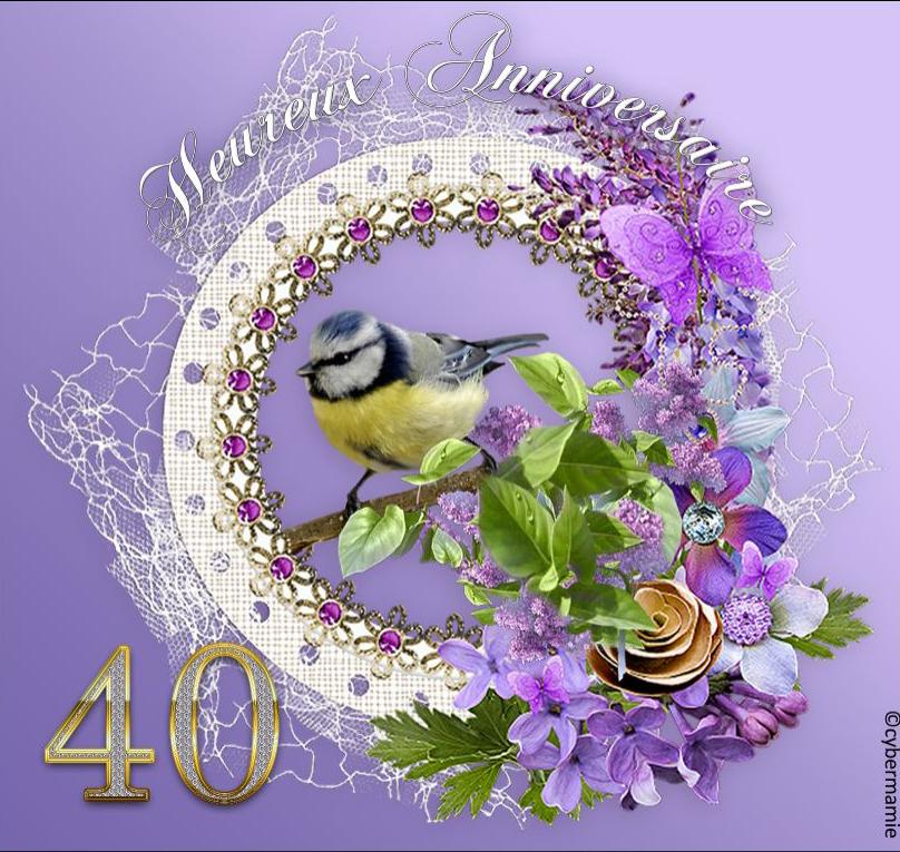 40 - Fleuri parme