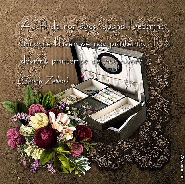 80 - Coffret bijoux (citation S. Zeller)