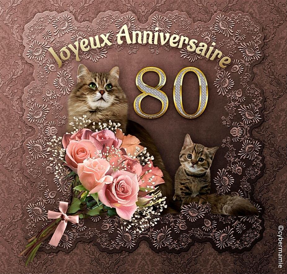 80 - Chats (vieux rose)