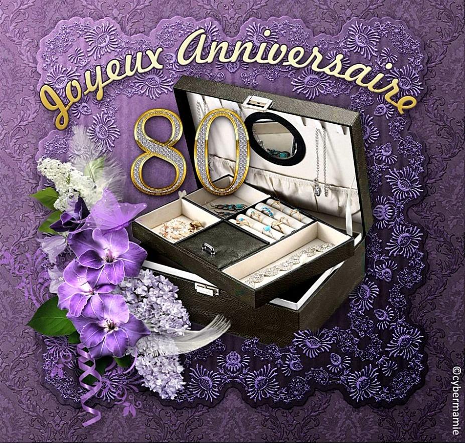 80 - Coffret bijoux (violet)