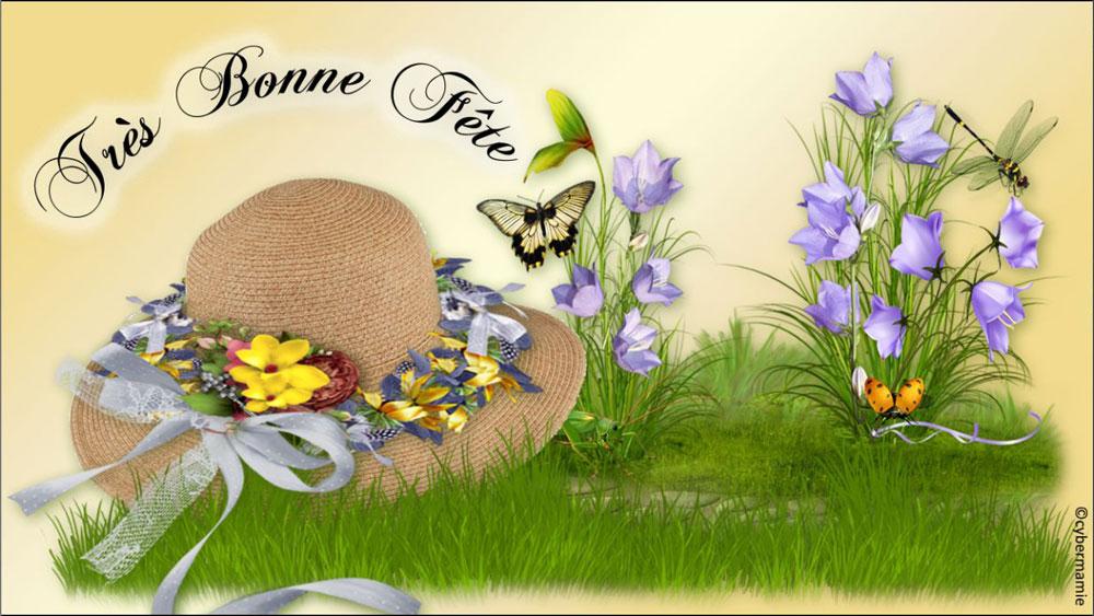 15 - Chapeau fleuri